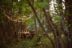 I want my wedding wooded, whimsical and at dusk... Please.