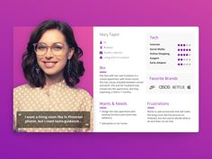 Woman User Persona - UX designed by Ofer Ariel. Connect with them on Dribbble; the global community for designers and creative professionals. Persona Design, Persona Ux, Customer Persona, Buyer Persona, Design Ios, Tool Design, Layout Design, Graphic Design, Design Thinking