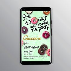 You donut want to miss the party invitation for your little one. our invite makes sure you never miss the fun. Any design wishes; Contact Us. Designer Swapnil- NIFT Alumni