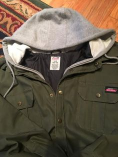 Dickies Hooded Jacket, Size Large