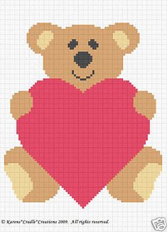 Bear Love Crochet Baby Afghan Graph Pattern Beginner | eBay $4.95