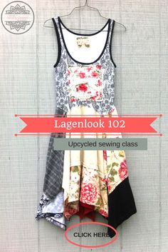 Simple Sewing Lagenlook online sewing class - learn to sew - upcycled sewing taught by Wendy Bryant of CreoleSha - Wendy has over 10 years experience creating upcycled clothing - she will walk you through step by step through an online video class! https://createwithcreolesha.teachable.com/p/simple-sewing-upcycled-dress-lagenlook-102