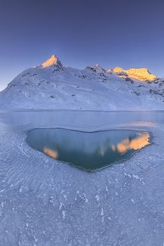 Cold sunrise at Berninapass, Switzerland, by Roberto Sysa Moiola, on 500px(Trimming)