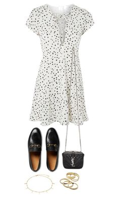 """""""Untitled #4363"""" by theeuropeancloset ❤ liked on Polyvore featuring WYLDR, Gucci, Yves Saint Laurent and Kendra Scott"""