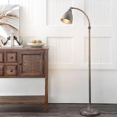 Pharmacy Floor Lamp, Traditional Floor Lamps, Lamp Shade Store, Cool Floor Lamps, Home Lighting, Living Room Designs, Flooring, Furniture, Dark Grey