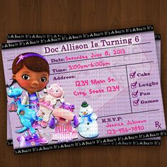 Doc mcstuffins invitation photo invitation cute doc mcstuffins doc mcstuffins invitations doc mcstuffins by lovebuggydesigns 999 filmwisefo