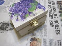 Deco Box - Decoupage - YouTube