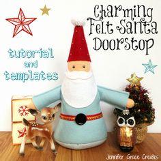 FREE Charming Felt Santa / Gnome Doorstop (Or Toy!) by Jennifer Grace Creates