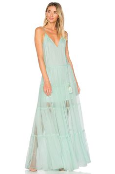 Karina Grimaldi Chloe Maxi Dress in Mint | REVOLVE