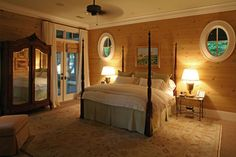 Oval windows add light and interest to Master Bedroom - traditional - bedroom - charleston - Christopher A Rose AIA, ASID