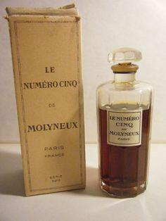 LE NUMERO CINQ - MOLYNEUX - VINTAGE PARFUM EXTRAIT - 3 OZ? - 1920s PERFUME