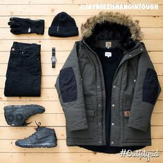 Today's top #outfitgrid is by @jaybeezishangintough. ▫️#CarharttWIP #Parka ▫️#NorseProjects #flatlay #flatlayapp #flatlays
