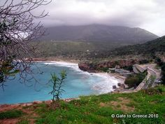 Bay of Diros, western coast of Mani. The famous Diros Cave is situated below. Western Coast, Greece Vacation, Westerns, Costa, Cave, World, Places, Outdoor, Beauty