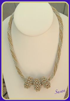 Mina smycken: Silver-guld herringbone