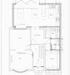 PLANS 🏠 Finally had some completed plans back from the architect. There have been so many little amends along the way and it's been… Open Plan Kitchen Diner, Open Plan Kitchen Living Room, Open Plan Living, House Extension Plans, Extension Ideas, Open House Plans, House Extensions, Plan Design, Design Ideas