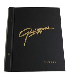 Heritage Black Linen menu with gold embossed print http://fcmsales.com.au/