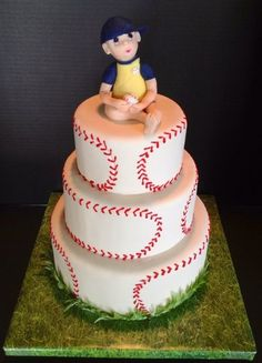 Baseball Baby Shower cake  Cake by TheVagabondBaker