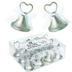 glöckchen für steffis hochzeit zum küssen klingeln....für jeden Platz / tisch mit kärtchen dran gesteckt mit erklärung....
