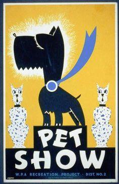 show flyer, super dog, pet show, retro