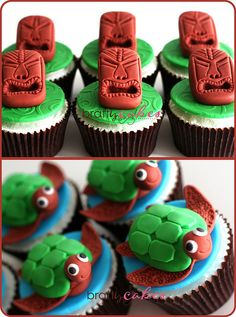 Tiki Heads & Turtles #Cupcakes, via Flickr.