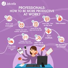 How to be more Productive at Work? Jobzella