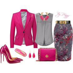 """""""Wearing Pink in Memory of My Cousin Brenda!"""" by pkoff on Polyvore"""