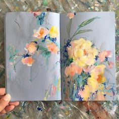 watercolor floral art