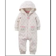 Carters Baby Girls Hooded Brushed Fleece Jumpsuit 12 Months ** Find out more about the great product at the image link. (This is an affiliate link) Little Girl Fashion, Kids Fashion, Toddler Jumpsuit, Neon Top, Baby Girl One Pieces, Carters Baby Girl, Girls Pajamas, Cute Baby Clothes, Babies Clothes