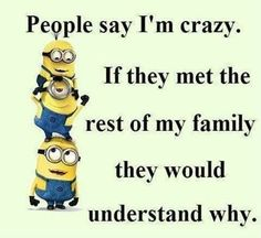 16 Trendy quotes funny minions hilarious so true Funny Minion Memes, Funny Jokes, Hilarious, Funny Sayings, Funny Humour, Funny Family Quotes, Crazy Family Quotes, Minion Humor, Family Humor