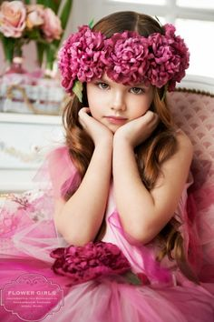 My ❀Flower ❀ Girls❀ wedding flower crown corona halo Flower Crown Wedding, Flower Crowns, Wedding Flowers, Hair Flowers, Flower Hats, Pink Flowers, Beautiful Children, Beautiful Babies, Most Beautiful