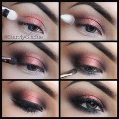 MAQUILLAJE ACTUAL: Maquillaje moderno para jovencitas y señoras: MAQUILLAJE DE FIESTA OJOS AHUMADOS