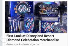 Check out the video! http://disneyparks.disney.go.com/blog/2015/03/first-look-at-disneyland-resort-diamond-celebration-merchandise/
