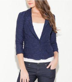 Cora Knit Blazer, NIGHTFALL BLUE