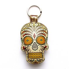 Special Edition Leather keychain / key ring / bag charm by tovicorrie, $21.00