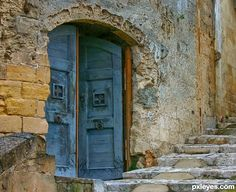 It is in a very old town in Italy called Matera.