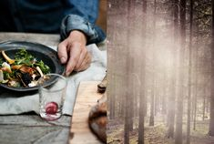 Foraging - become knowledgeable about which wild foods grow in your area, then turn yourself loose in the forest!
