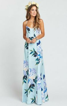a71e5c5f0444 Godshaw Goddess Gown ~ Mint To Be Floral · Mumu Bridesmaid DressesWedding  ...