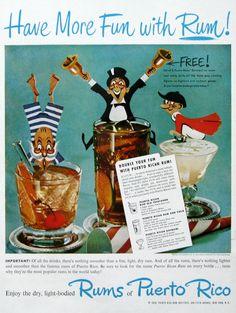 1951 Puerto Rican Rum ad (from #RetroReveries)