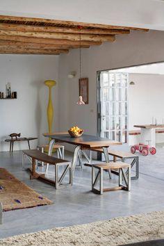 #interior #styling #dining #decor #concrete #wood