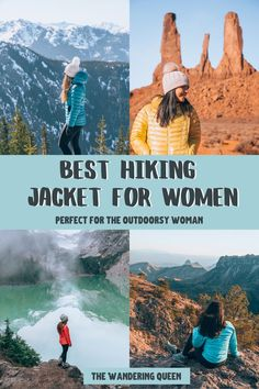 Best Down Jacket: Women - The Wandering Queen Get Outdoors, The Great Outdoors, Backpacking Pictures, Hiking Tips, Hiking Gear, Camping Gear, Hiking Jacket, What To Pack, Travel Gifts