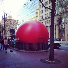RedBall art project at BART