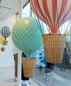 Hot Air Balloon Window Display for fashion retailer PLENTY designed by arithmetic