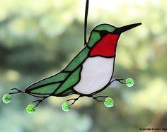 Suncatcher Stained Glass Colibri