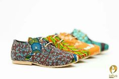 Bélya brogues african print shoes available in Dakar Senegal