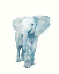 Amy Hamilton #art #illustration #elephant #drawing #blue #animal #drawing #beautiful #cute