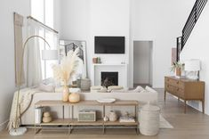 """Aspyn Ovard's Home Remodel - Ames Interiors """"Get the look"""" and shop the products that bring Aspyn Ovard's modern boho home to life! Boho Living Room, Home And Living, Living Room Decor, Small Living, Earthy Living Room, Living Spaces, Bedroom Decor, Living Room Inspiration, Home Decor Inspiration"""