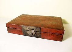 Antique Chinese Leather Box (5438), Circa 1850-1899