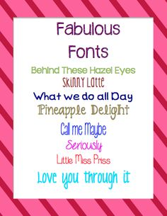 Just Wild About Teaching: Head Over Heels With My New Favorite Fonts!