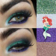 Tutorial – maquiagem inspirada na sereia Ariel
