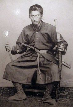 Samurai with two swords (daisho).
